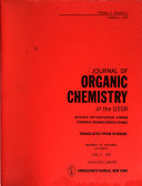 Journal of Organic Chemistry of the USSR