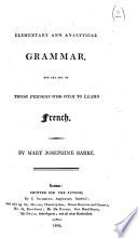 Elementary and Analytical Grammar
