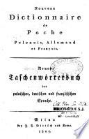 Nouveau dictionnaire de poche polonois  allemand et fran  ais