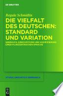 Die Vielfalt des Deutschen: Standard und Variation