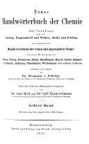 Neues Handwörterbuch Der Chemie