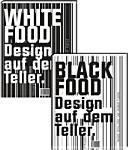 Black food design auf dem Teller