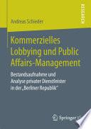 Kommerzielles Lobbying und Public Affairs-Management