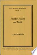 Matthew Arnold and Goethe