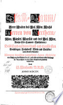 Stam[m]-Baum Derer Uralten des Heil. Röm. Reichs Herren von Werthern, Röm. Käyserl. Majestät und des Heil. Röm. Reichs Erb-Cammer-Thürhüterer, Daselbst und auf denen Graff-und Herrschafften Beichlingen ...