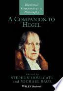 A Companion To Hegel book