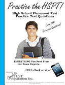 Practice the HSPT  High School Placement Test Practice Test Questions