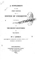 A supplement to the first edition of A system of chemistry