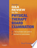 Saunders  Q   A Review for the Physical Therapy Board Examination E Book