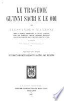 Opere di Alessandro Manzoni  Carteggio     a cura di G  Sforza e G  Gallavresi  1912 21