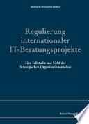 Regulierung internationaler IT-Beratungsprojekte