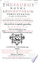 Thesaurus novus anecdotorum