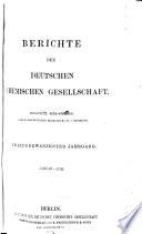Berichte der Deutschen Chemischen Gesellschaft