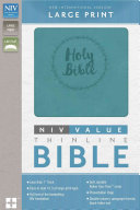 NIV  Value Thinline Bible  Large Print  Imitation Leather  Blue