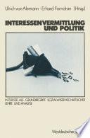 Interessenvermittlung und Politik