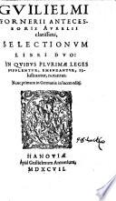 Guilielmi Fornerii selectionum libri duo