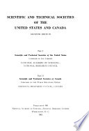 Scientific and Technical Societies of the United States and Canada
