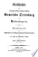 Geschichte der evangelisch-lutherischen Gemeinde Ortenburg in Niederbayern