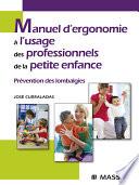 illustration Manuel d'ergonomie à l'usage des professionnels de la petite enfance
