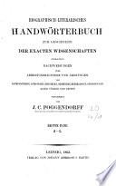 Biographisch-literarisches Handwörterbuch der exakten Naturwissenschaften