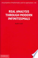 Real Analysis Through Modern Infinitesimals