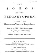 The Songs of The Beggar's Opera