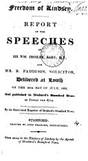 download ebook freedom of lindsey, report of the speeches of sir w. ingilby and r. paddison, by the short-hand reporter of drakard\'s stamford news pdf epub