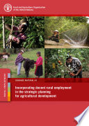 Incorporating Decent Rural Employment In The Strategic Planning For Agricultural Development