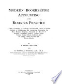Modern Bookkeeping  Accounting and Business Practice