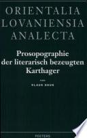 Prosopographie der literarisch bezeugten Karthager