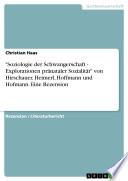 """""""Soziologie der Schwangerschaft - Explorationen pränataler Sozialität"""" von Hirschauer, Heimerl, Hoffmann und Hofmann. Eine Rezension"""