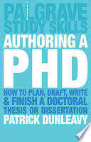 Authoring A Phd book