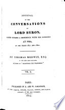 Journal Of The Conversations Of Lord Byron
