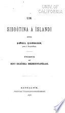 Um siðbótina á Íslandi
