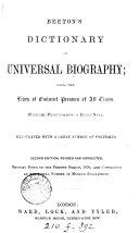 download ebook beeton\'s dictionary of universal biography pdf epub