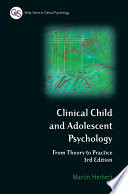 Clinical Child and Adolescent Psychology