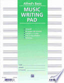 10 Stave Music Writing Pad  Loose Pages  3 Hole Punched for Ring Binders