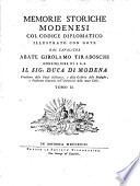 Memorie storiche modenesi