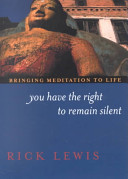 Book You Have the Right to Remain Silent