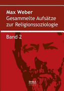 Gesammelte Aufsätze zur Religionssoziologie. Band 2