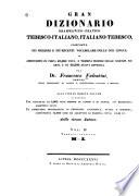 Gran dizionario grammatico pratico tedesco italiano  italiano tedesco