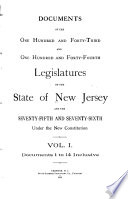 Documents of the     Legislature of the State of New Jersey Book PDF