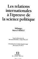 Les relations internationales à l'épreuve de la science politique