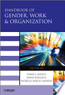 Handbook of Gender, Work and Organization