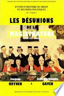 Les D Sunions De La Magistrature