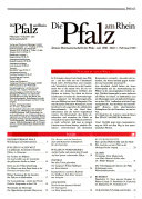 Die Pfalz am Rhein
