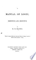 A Manual of Logic  deductive and inductive