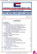 Karen National Union K N U Bulletin