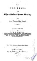Der Untergang des Churfürstenthums Mainz