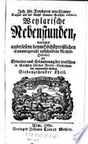 Wetzlarische Nebenstunden worinnen auserlesene beym Höchstpreislichen Cammergericht entschiedene Rechts-Händel zur Erweite- und Erläuterung der teutschen Rechts-Gelehrsamkeit angewendet werden